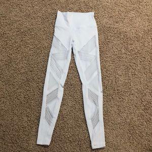 White alo leggings